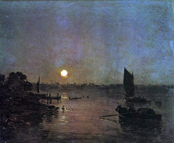Joseph William Turner Moonlight, A Study at Millbank - Canvas Art Print