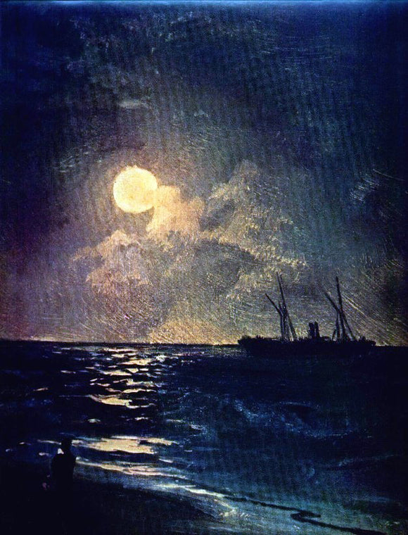 Ivan Constantinovich Aivazovsky Moonlit Night - Canvas Art Print