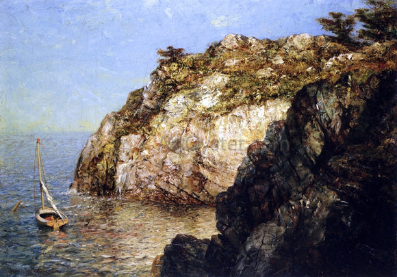 James Gale Tyler Moored Along the Cliffs - Canvas Art Print