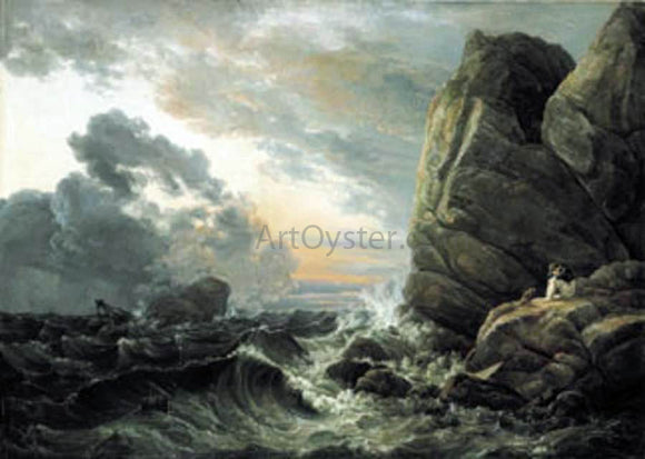 Johan Christian Claussen Dahl Morning after a Stormy Night - Canvas Art Print