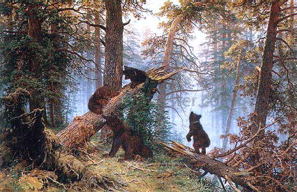 Ivan Ivanovich Shishkin Morning in the Pine-tree Forest - Canvas Art Print
