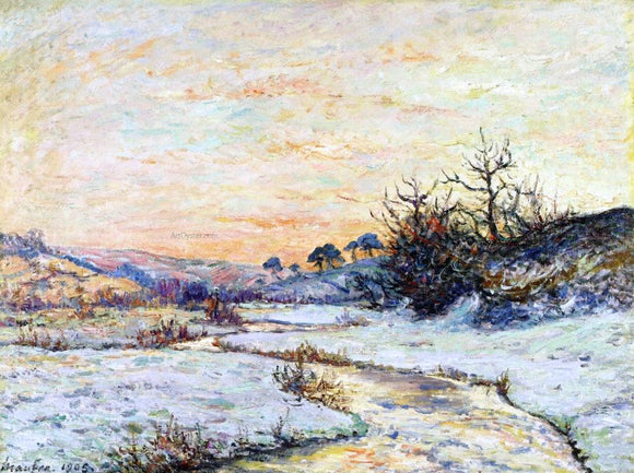 Maxime Maufra Morning in Winter, Vallee du Ris, Douardenez - Canvas Art Print