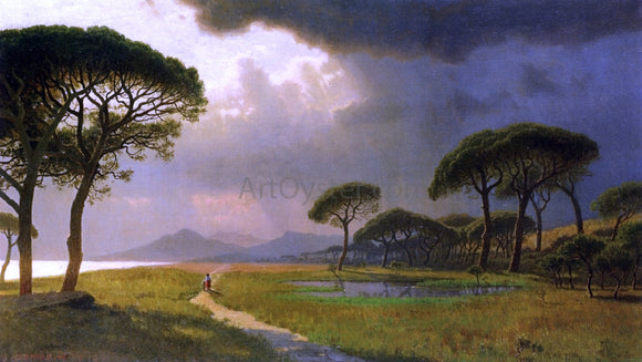 William Stanley Haseltine Morning Light, Roman Campagna - Canvas Art Print