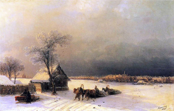 Ivan Constantinovich Aivazovsky Moscow in Winter from the Sparrow Hills - Canvas Art Print