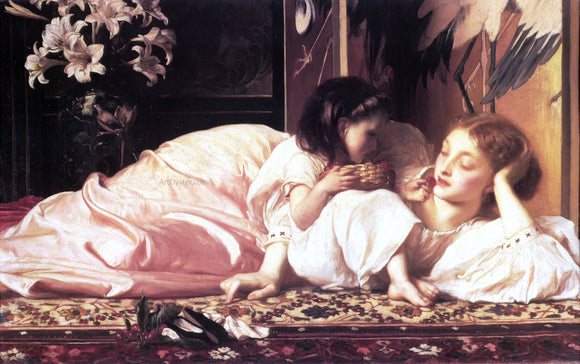 Lord Frederick Leighton Mother and Child - Canvas Art Print