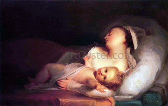 Thomas Sully Mother and Child - Canvas Art Print