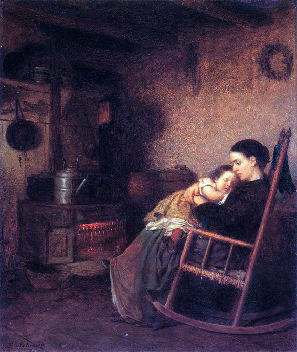 Eastman Johnson Mother and Child - Canvas Art Print
