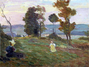Henri Lebasque Mother and child in the fields - Canvas Art Print