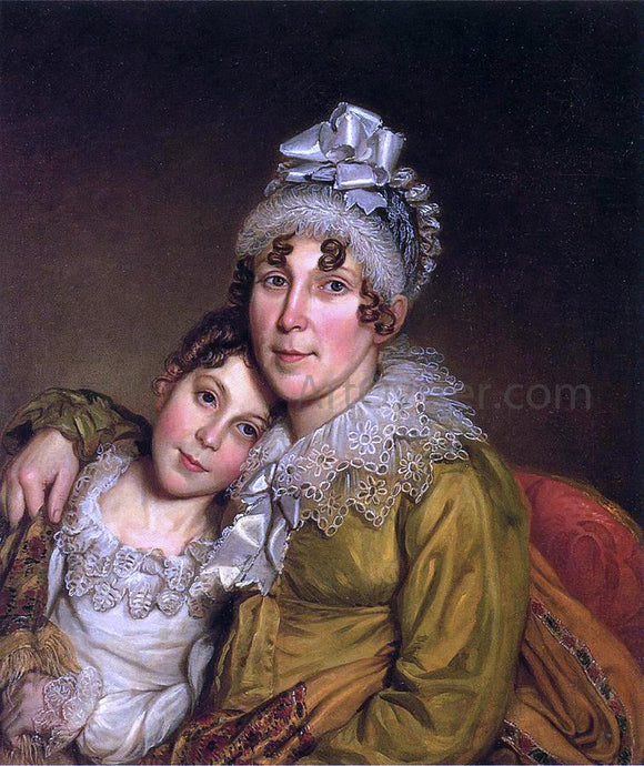 Charles Willson Peale Mother Caressing Her Convalescant Daughter - Canvas Art Print