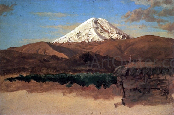 Frederic Edwin Church Mount Chimborazo, Ecuador - Canvas Art Print