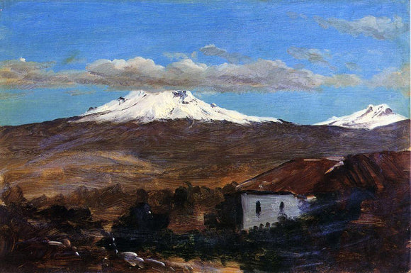 Frederic Edwin Church Mount Chimborazo, Ecuador, Shown from Riiobamba - Canvas Art Print