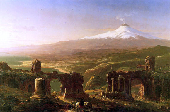 Thomas Cole Mount Etna from Taormina - Canvas Art Print