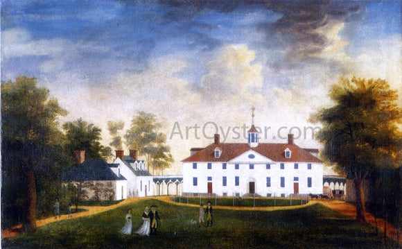 Edward Savage Mount Vernon from the Carriage Entrance - Canvas Art Print
