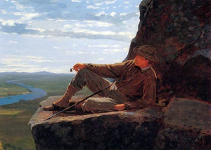 Winslow Homer Mountain Climber Resting - Canvas Art Print