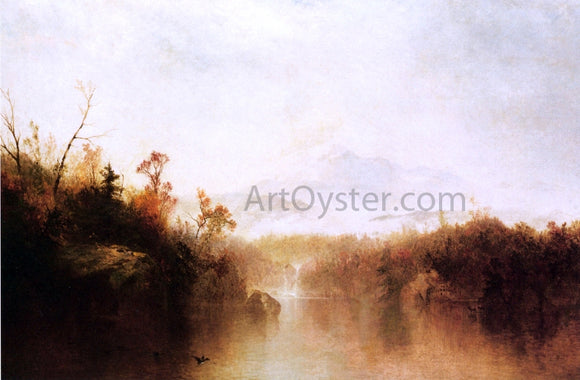 John Frederick Kensett Mountain Lake - Canvas Art Print
