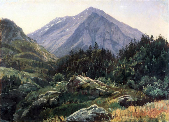 William Stanley Haseltine Mountain Scenery, Switzerland - Canvas Art Print