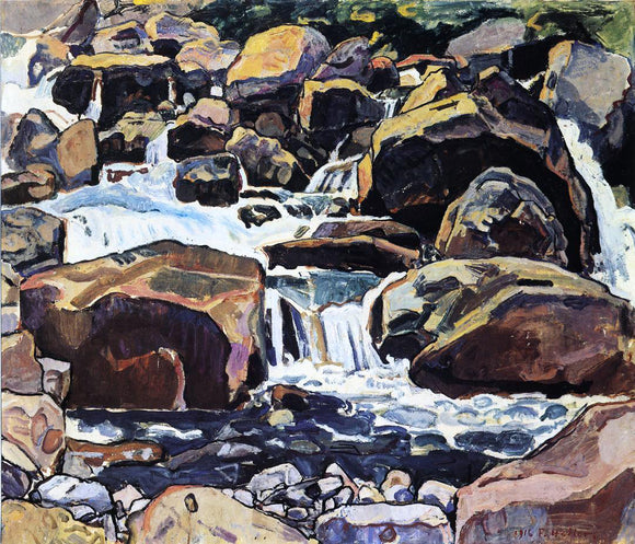 Ferdinand Hodler Mountain Stream at Champery - Canvas Art Print