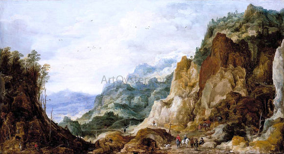 Joos De Momper Mountainous Landscape - Canvas Art Print