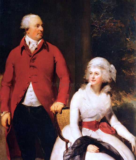 Sir Thomas Lawrence Mr and Mrs John Julius Angerstein (detail) - Canvas Art Print
