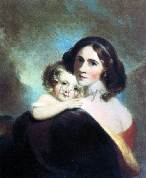 Thomas Sully Mrs Fitzgerald and her Daughter Matilda - Canvas Art Print