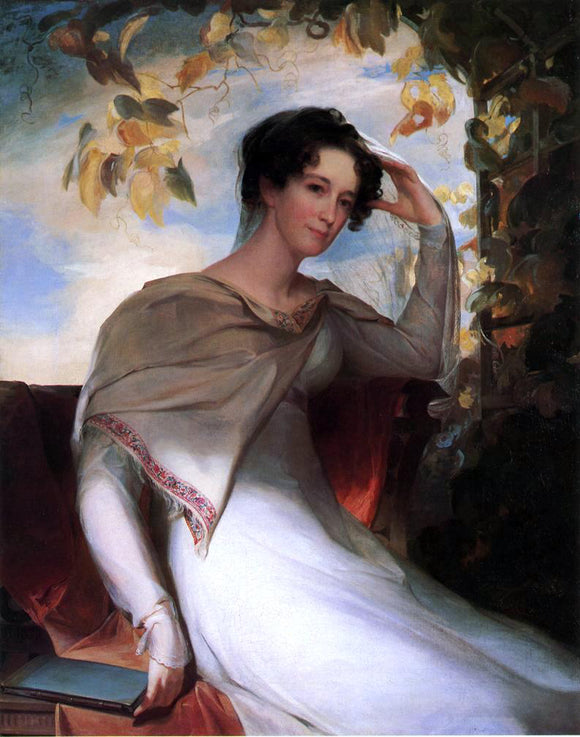 Thomas Sully Mrs. James Gibson (Elizabeth Bordley) - Canvas Art Print