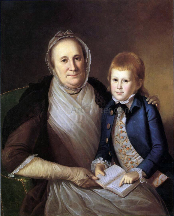 Charles Willson Peale Mrs. James Smith and Grandson - Canvas Art Print