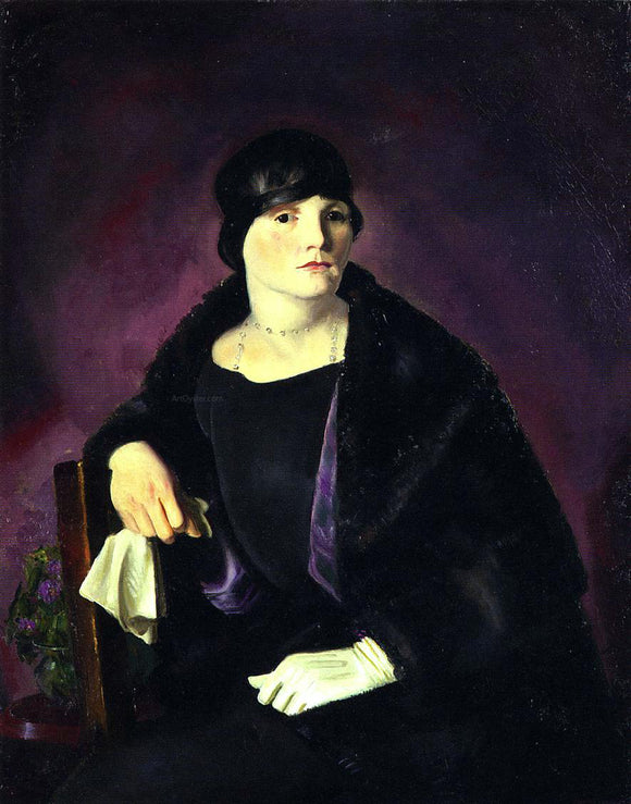 George Wesley Bellows Mrs. Richter - Canvas Art Print