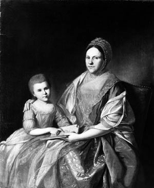 Charles Willson Peale Mrs. Samuel Mifflin and Her Granddaughter Rebecca Mifflin Francis - Canvas Art Print