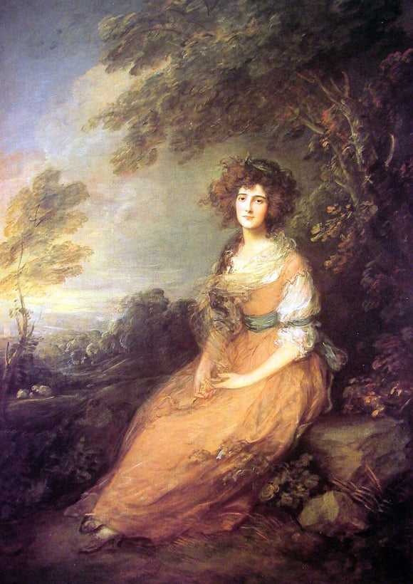 Thomas Gainsborough Mrs Sheridan - Canvas Art Print