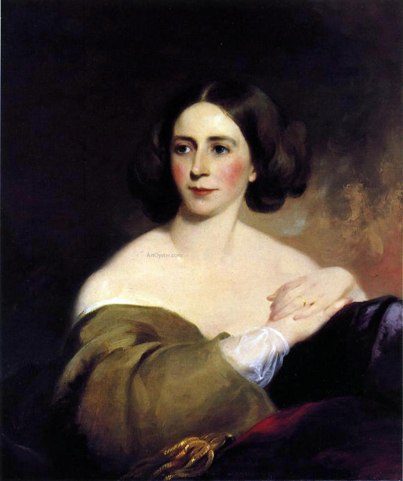 Thomas Sully Mrs. Thomas Fitzgerald (Sarah Leveing Riter) - Canvas Art Print