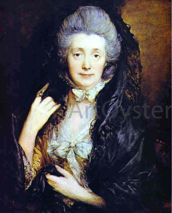Thomas Gainsborough Mrs. Thomas Gainsborough, nee Margaret Burr - Canvas Art Print