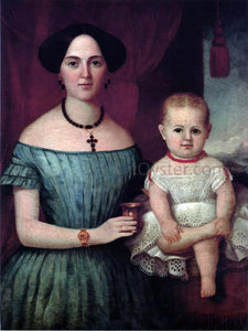 John Henry Byrd Mrs. Weldon Wright and Her Daughter - Canvas Art Print