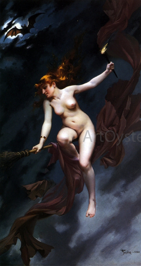 Luis Ricardo Falero Muse of the Night - Canvas Art Print