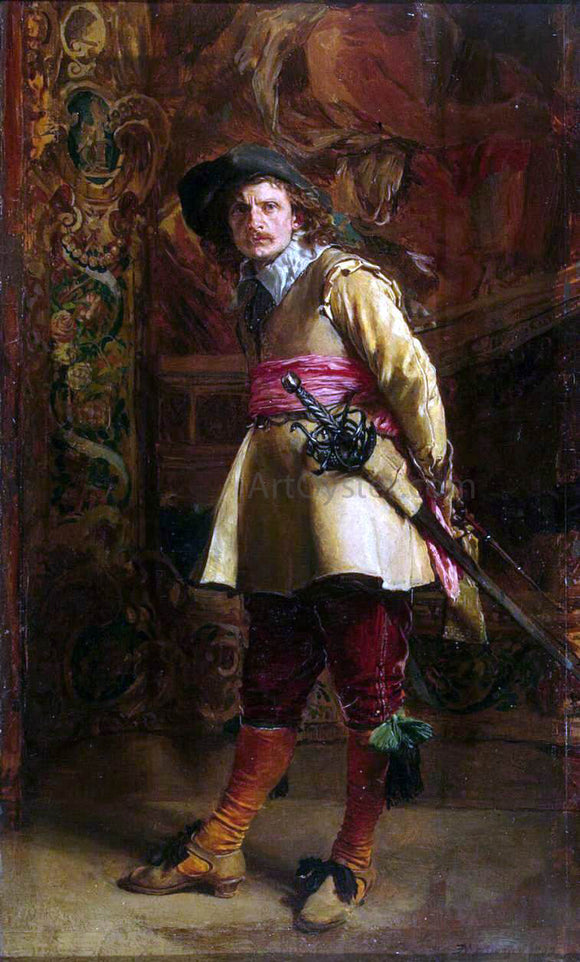 Jean-Louis Ernest Meissonier Musketeer - Canvas Art Print