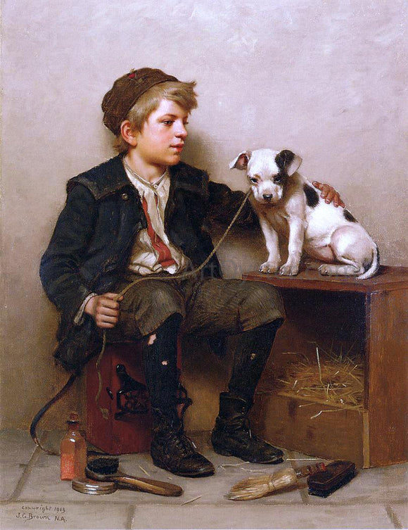 John George Brown My Best Friend - Canvas Art Print