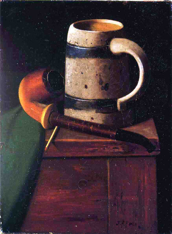 John Frederick Peto My Pipe and Mug - Canvas Art Print