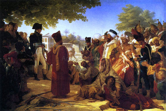 Pierre-Narcisse Guerin Napoleon Pardoning the Rebels at Cairo - Canvas Art Print