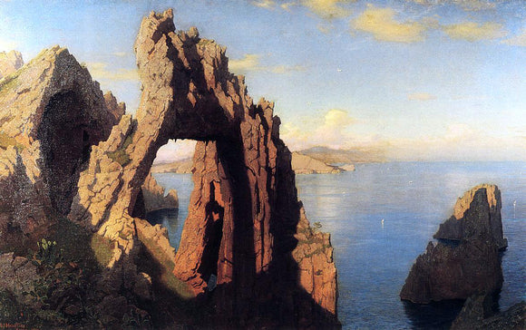 William Stanley Haseltine Natural Arch at Capri - Canvas Art Print