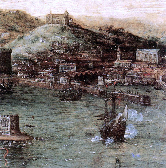 The Elder Pieter Bruegel Naval Battle in the Gulf of Naples (detail) - Canvas Art Print