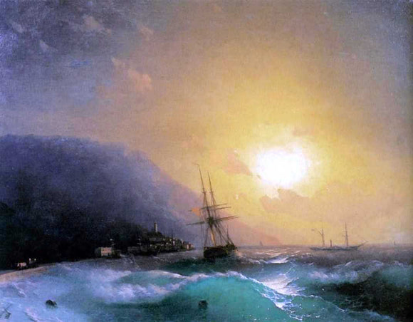 Ivan Constantinovich Aivazovsky Near coast of Yalta - Canvas Art Print
