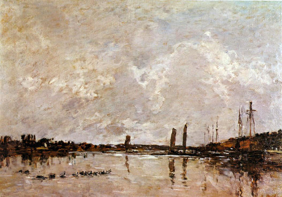 Eugene-Louis Boudin Near Faou - Canvas Art Print