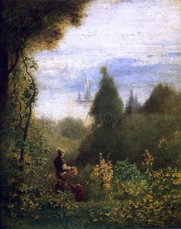 George Inness Near Hastings - Canvas Art Print