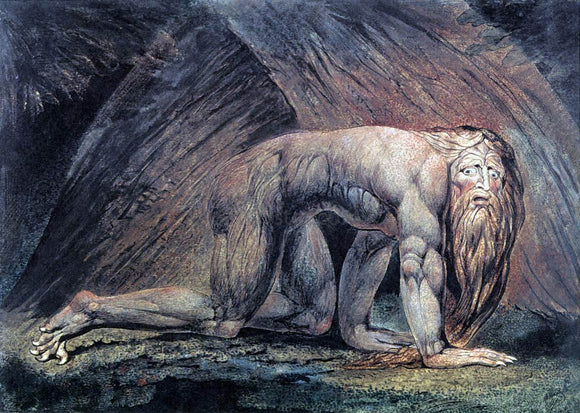 William Blake Nebuchadnezzar - Canvas Art Print