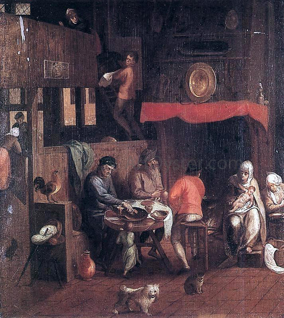 Gillis Mostaert Netherlandish Household - Canvas Art Print