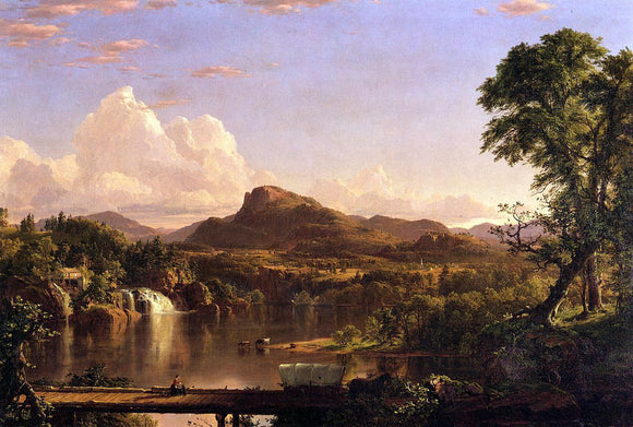 Frederic Edwin Church New England Scenery - Canvas Art Print