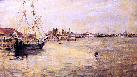 John Twachtman New York Harbor - Canvas Art Print