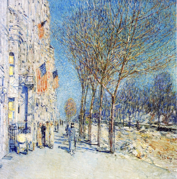 Frederick Childe Hassam A New York Landscape - Canvas Art Print