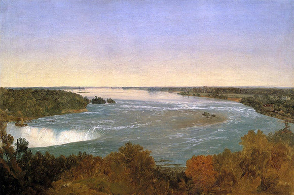 John Frederick Kensett Niagara Falls and the Rapids - Canvas Art Print