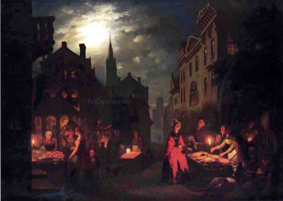 Johann Mongles Culverhouse Night Market - Canvas Art Print