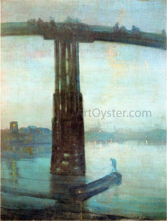 James McNeill Whistler Nocturne: Blue and Gold - Old Battersea Bridge - Canvas Art Print
